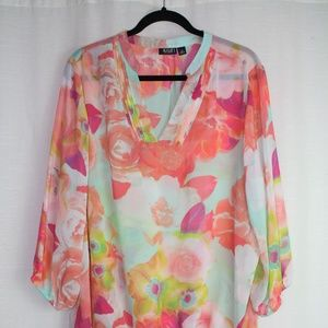 A.N.A. A New Approach Floral Blouse